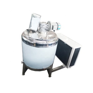 China Manufacture Stainless Steel 500L Vertical Goat Milk Cooling Tank