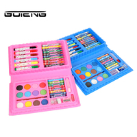 GUTENG 42 Pieces/Set Kids Paint Brushes Professional Painting Art Set for Kids