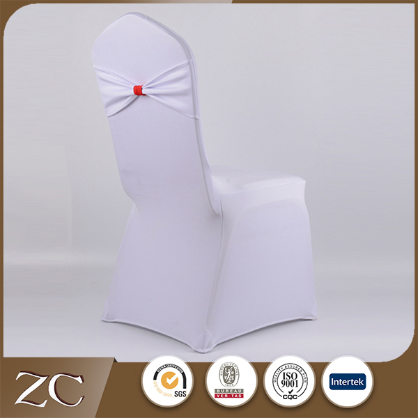 Best sale wholesale white ruffled cheap spandex chair cover
