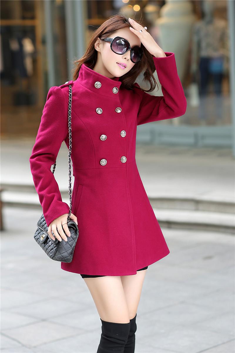 499e1ecc91e6 2019 New Fashion Women Korean Wool Coat Ladies Designer Long Blazer ...