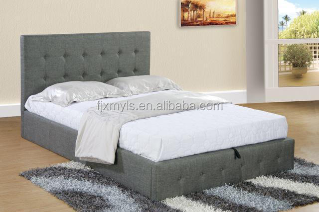 Gas lift storage bed best storage design 2017 for Fabric bed frame with storage
