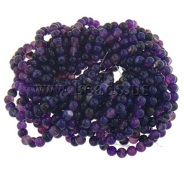 Free shipping!!!Natural Purple Agate Beads,promotion, Round, stripe, 8mm, Hole:Approx 1.2mm, 10Strands/Lot, Sold By Lot