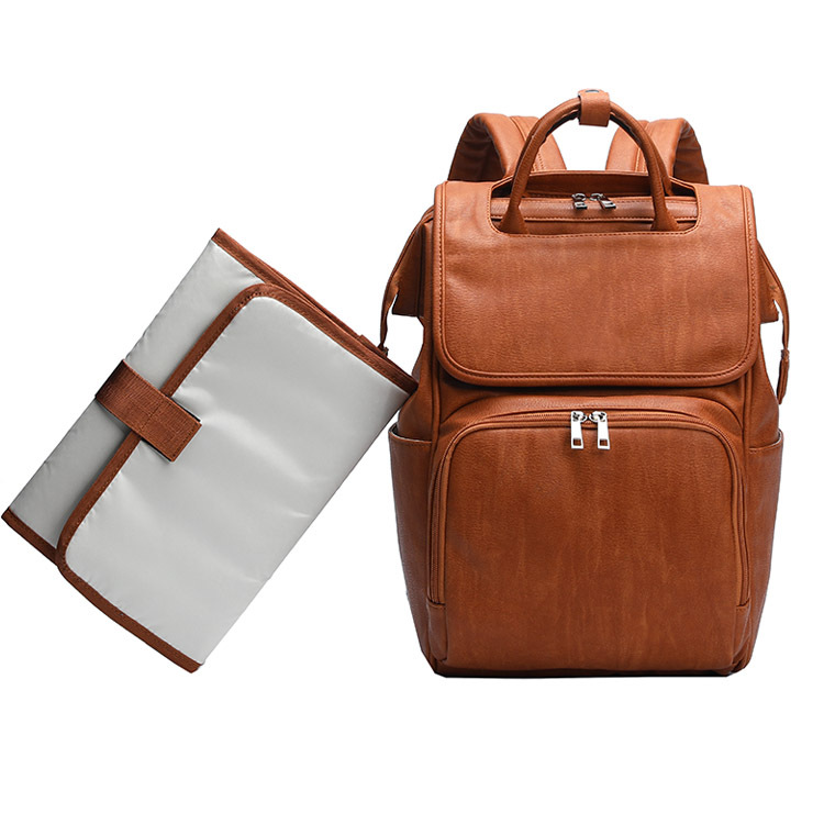 RETON थोक यात्रा शाकाहारी पु चमड़े बच्चे बदलते चटाई डायपर बैग के साथ बैग महिलाओं लंगोट बैग