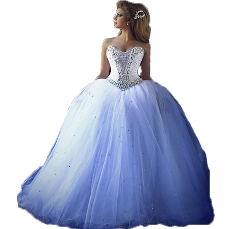 GHD100 Free Shipping Sexy Ball Gown Sweetheart Sequined Elegant Cheap Lace Up Crystal Wedding Dresses Made In China2015