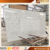 Polished white Artificial Marble Faux Arabesato Stone Wall Panels / marble slab