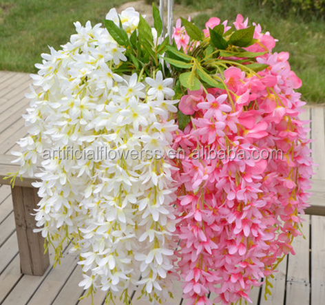 Wholesale artificial hanging small wisteria <strong>flower</strong> for wedding decoration
