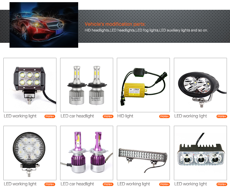 Motorcycle light bulb L4X super bright good quality motorcycle led strobe light 40W small size
