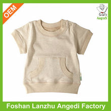OEM eco-friendly soft new born baby organic cotton t shirt