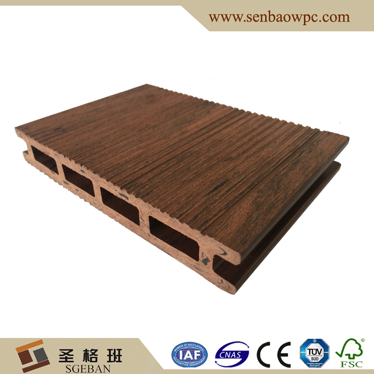 China hueco WPC decking compuesto bordo