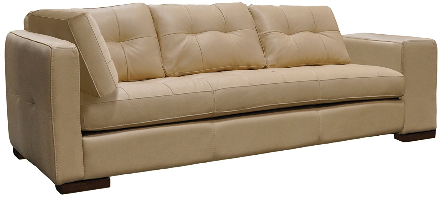 Omnia Leather Peninsula Right Arm 1 Cushion Sofa with Left Return in Leather, Shadow Legs, Softstations White Winter