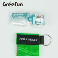 CPR Mask Valve Keychain CPR Mask disposable Face Shield CPR One Way Valve Breathing Barrier for First Aid or AED Training