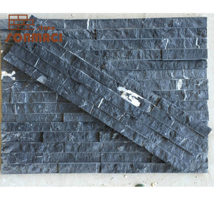 Black Slate Thin Ledge Stone Cladding Panel