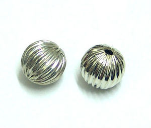 brass round corrugated bead