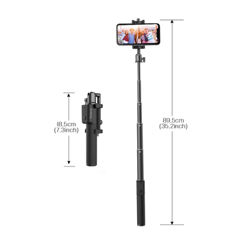 Smatree Selfie Stick 360 Degree Adjustable Biuld-in Wireless Bluetooth Remote Shutter for i Phone Android Mobile Phone