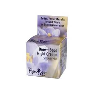 Reviva Labs Brown Spot Night Cream with Kojic Acid - 1 oz , Reviva Labs , Skin Care, Health & Beauty