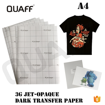3g Jet-opaque Dark Color T-shirts Transfers Paper A4 - Buy Heat Transfer  Paper,3g Jet-opaque Transfer Paper,Dark Transfer Paper Product on  Alibaba com