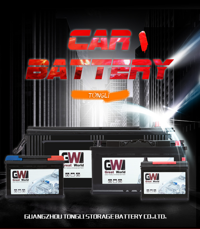 Din68 12V German Standard Europe Auto Battery Lead Acid Sealed Well Best Car Engine Starting Battery