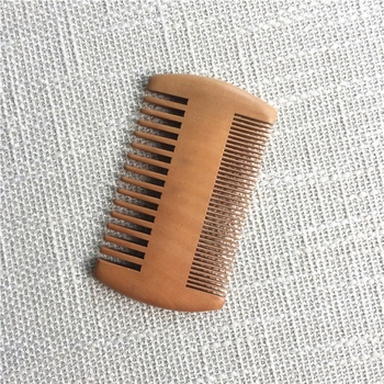 Private Label Doubled Sided Hair Lice Wooden Comb