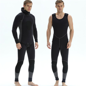 Custom 3/5mm freediving wetsuit 2 pieces spearfishing wetsuit
