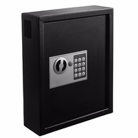 Secure Holds 40 Keys Steel Cabinet with Digital Lock Key Cabinet