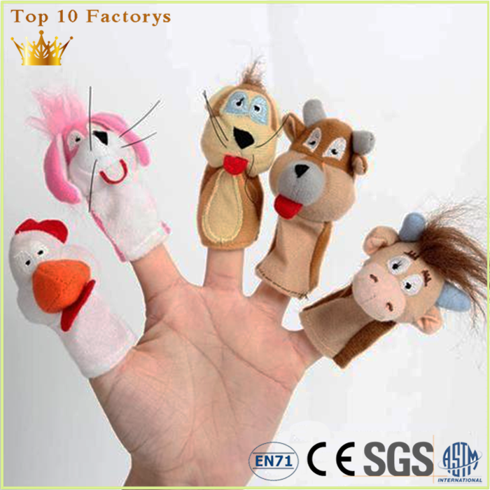 Hot Sale Lovely Girl Doll Sock Finger Hand Puppet for kids education