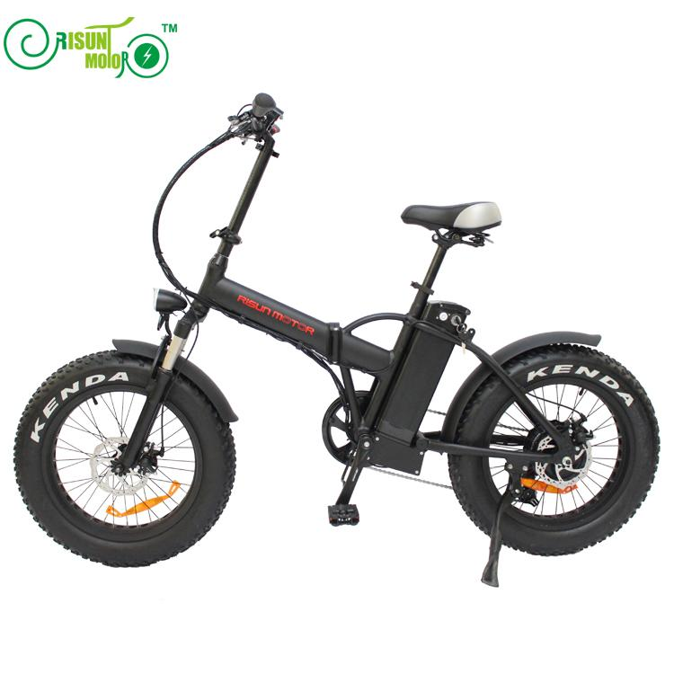 RisunMotor/BAFANG 36V 500W 8Fun Motor 20 inch Mini Folding Fat Tire Ebike with 36V 15AH electric bike bicycle Battery