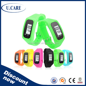 Christmas gift Factory Promotion 2D 3D pedometers bracelet wristband with calorie, distance, step count, time setting