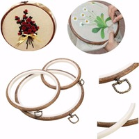 Embroidery Hoops Cross Stitch Hoop Ring Imitated Wood Circle Set Display Frame For Art Craft Handy Sewing and Hanging