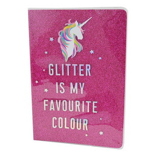 Wholesale promotional new fashion journal fun gift glitter notebook