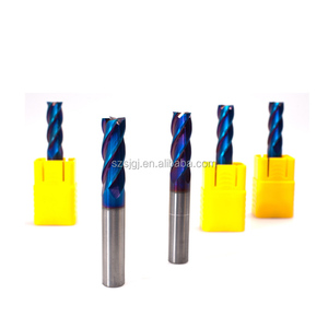 Factory 6MM Good wear resistance 4 flutes square end mill/solid carbide endmills for stainless steel
