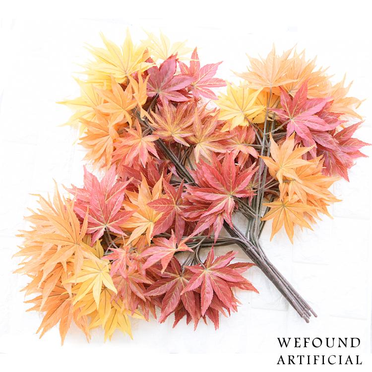 Preço de fábrica folhas de bordo artificial fake folhas outono folhas artificiais para decoraç u00e3o  -> Decoração Festa Folhas De Outono