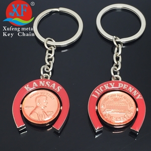 Custom united States Lincoln, American President rotate floating key chain