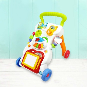 Factory Wholesale Hot Sale Multifunction Hand Push Type Baby Walker With Four 360 Degree Rotating Wheels