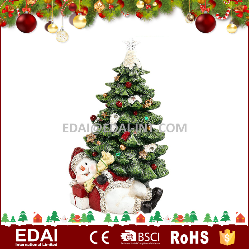 Poly santa snowman artificial christmas tree light decoration artificial tree