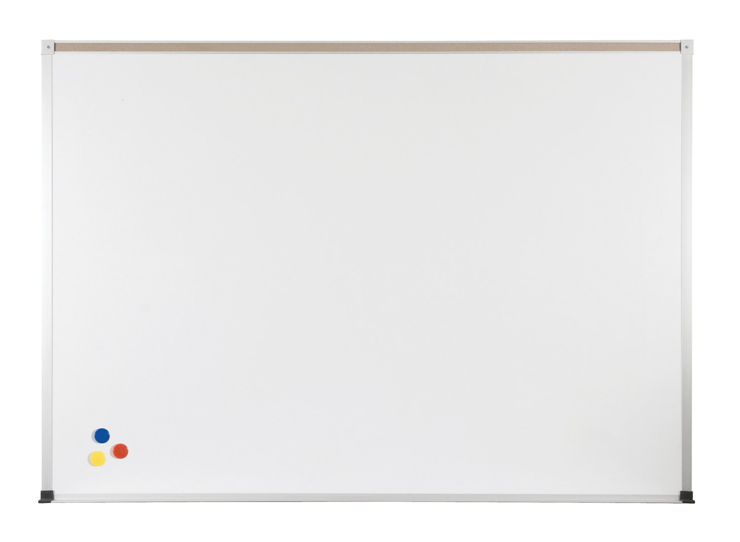 ABC Magnetic Wall Mounted Whiteboard Map Rail: With Map Rail, Size: 4' x 12'
