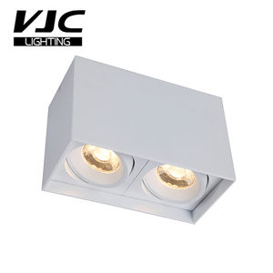 VJC 2*7W Indoor Square Twin Double Dimmable Adjustable Commercial Residential Ceiling Surface Mounted LED Light