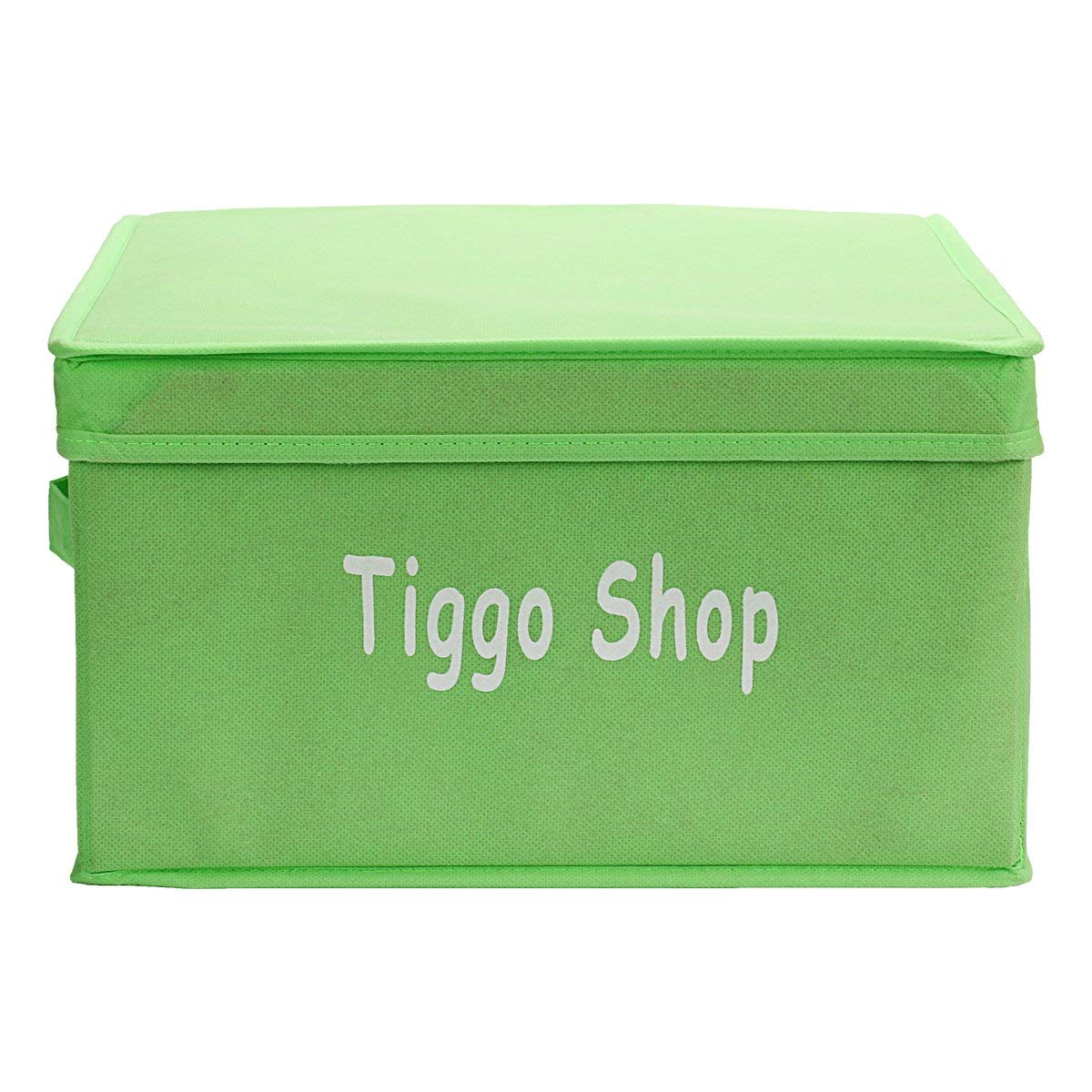 Tiggo Foldable Non-woven Storage Box/bins-collapsible Storage Trunk, Storage Bin with Lid, Toy Box, Light-weight Reusable Storage Cube Baskets with Portable Handles