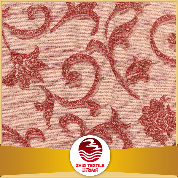 Shaxoing 2016 New design charming and attractive high quality jacquard floral pattern chenille fabric for sofa and curtain