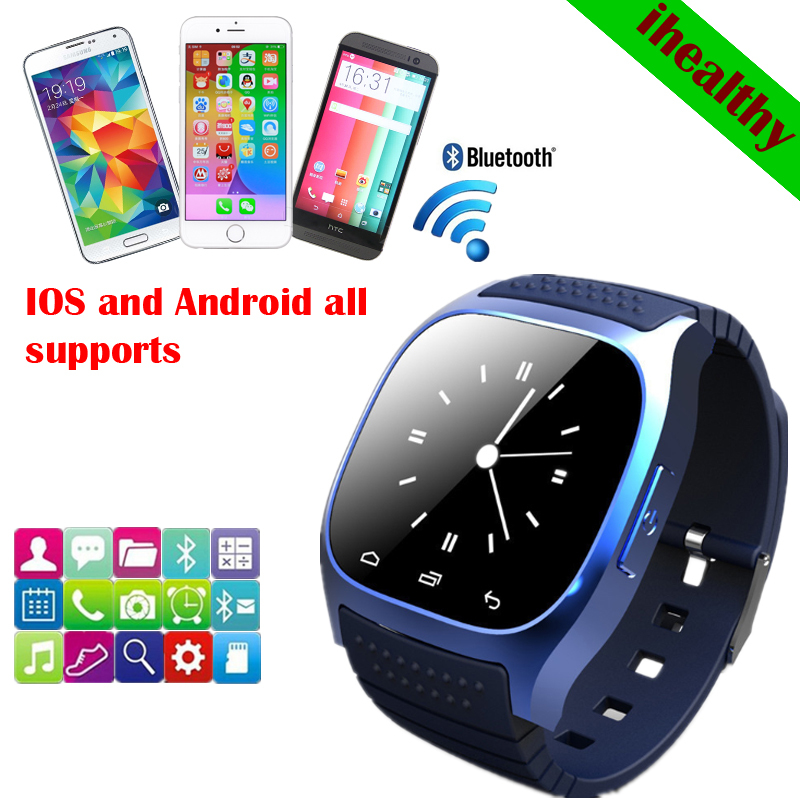 New 2014 Smart Bluetooth Watch M26 With LED Display / Dial / SMS Reminding /