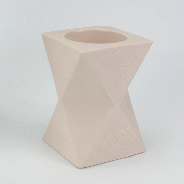 Polyhedron Figurine Crafts Ceramic wedding Candlestick decorative candle holder