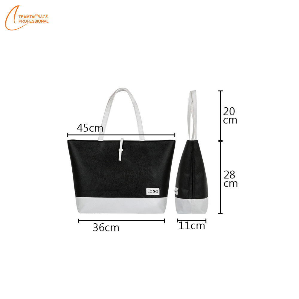 Wholesale sale tote pu leather handbag fashion shoulder bag women