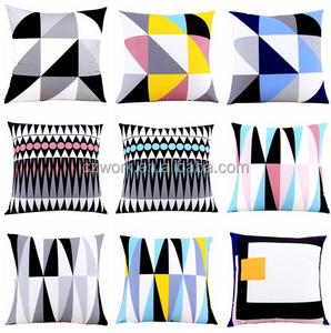 Creative design cotton linen beautiful smocking cushion cover