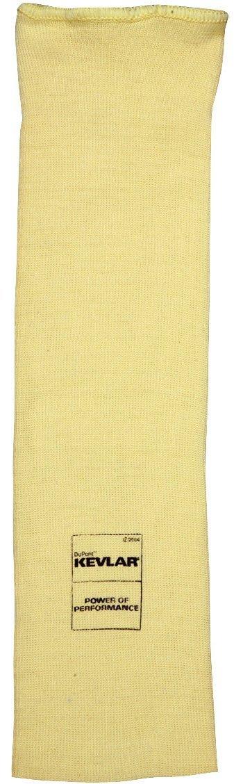 MCR Safety 9374 Kevlar Regular Weight 36 Gauge Plain Sleeve, Yellow, 14-Inch, 1-Pair