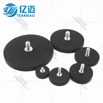 Permanent Rare Earth Magnet Type Rubber Coated Neodymium Pot Magnetic Base for LED Lights on Car Roof