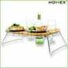 Bamboo Cocktail Buffet Plates with Beverage Holder Homex-BSCI