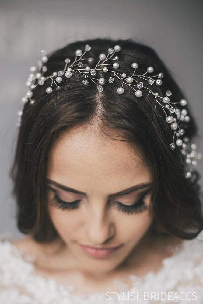 Wedding Lush Long Pearl Hair piece, Bridal Pearl Hair Vine, Wedding Pearl Hair Accessories, Wedding Hair Vine, Bridal Hair piece