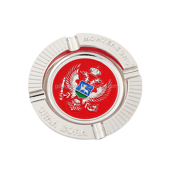 Customized Metal Montenegro Souvenir 3D Design Ash Tray Souvenirs Souvenir Plate