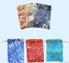 Christmas drawstring gift bag/rope pull candy bag/nylon mesh small bag