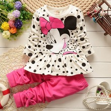 2015 new Spring and autumn Baby green floral skirt + Pink pants 2 sets cotton baby Girls suit  Free Shipping