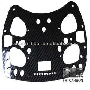 high precise carbon fiber plate sheet board CNC cutting service for Ar.Drone part quadcopter multicopter multirotor gimbal parts